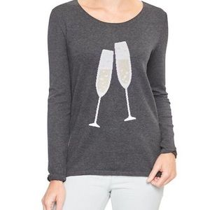 Gap Scoop Neck Sweater With Champagne Flutes